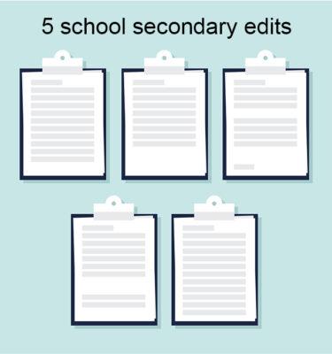 5 Medical School Secondary Essay Edits Package