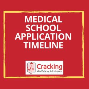 Medical School Application Timeline 2019