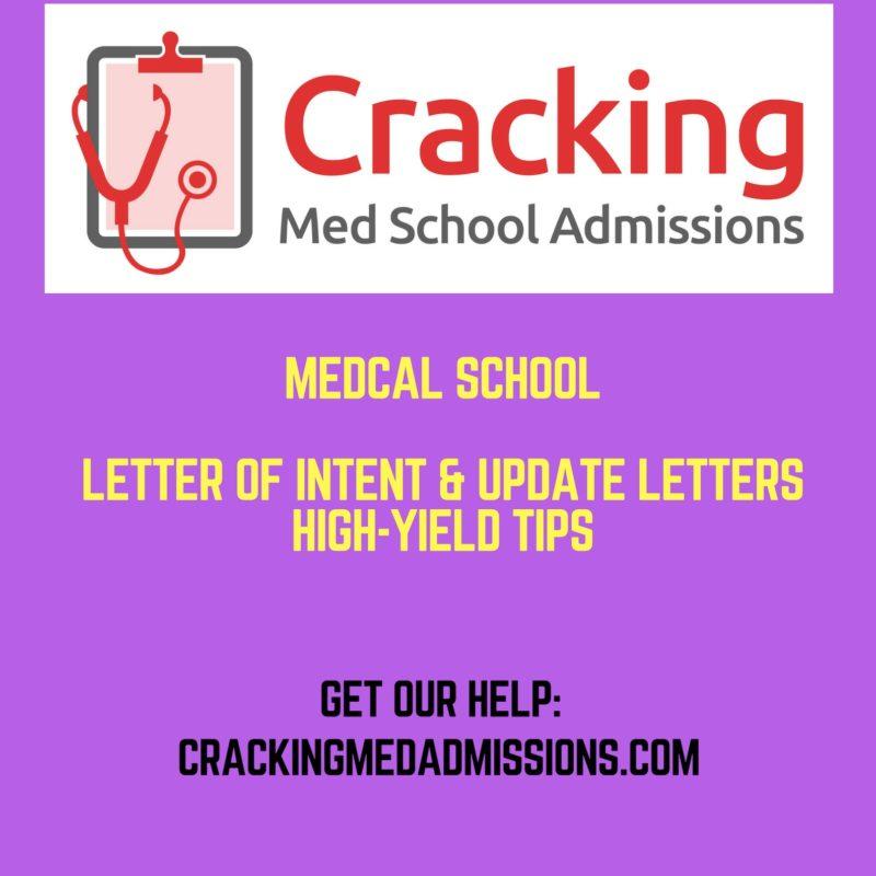 medical school letter of intent
