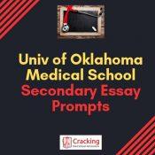 University of Oklahoma Medical School Secondary Application